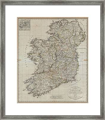 1804 Jeffreys And Kitchin Map Of Ireland Framed Print