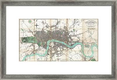 1806 Mogg Pocket Or Case Map Of London Framed Print