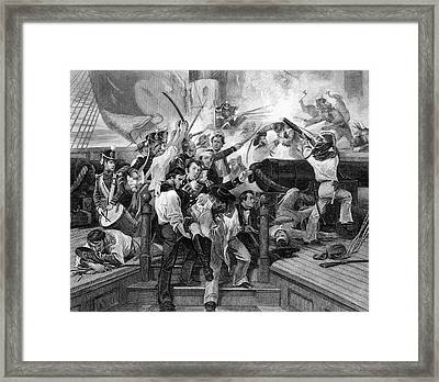 1810s August 1813 Death Of Captain Framed Print