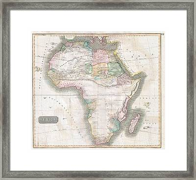 1813 Thomson Map Of Africa Framed Print by Paul Fearn