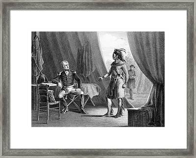 1814 General Andrew Jackson & Red Eagle Framed Print