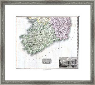 1814 Thomson Map Of Southern Ireland Framed Print by Paul Fearn