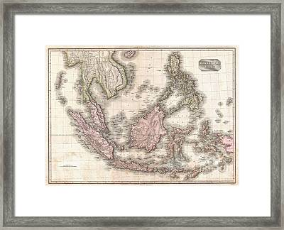 1818 Pinkerton Map Of The East Indies And Southeast Asia Framed Print