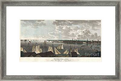 1824 Klinkowstrom View Of New York City From Brooklyn  Framed Print