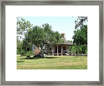 1830's Texas Dog-trot Cabin Framed Print