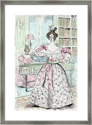 1835, Womens Fashion In Nineteenth-century Paris Framed Print