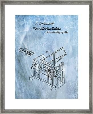1836 Wood Molding Machine Framed Print