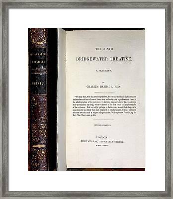 1837 Babbage Calculating Machine Universe Framed Print