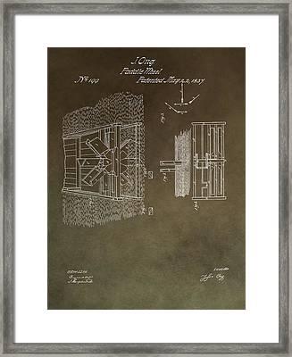 1837 Paddle Wheel Patent Framed Print