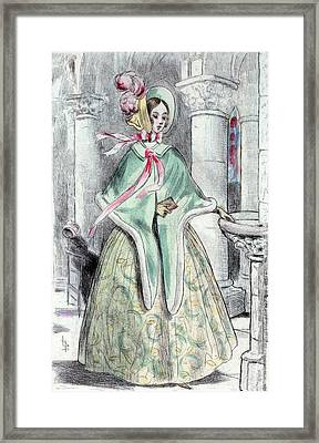 1839, Womens Fashion In Nineteenth-century Paris Framed Print