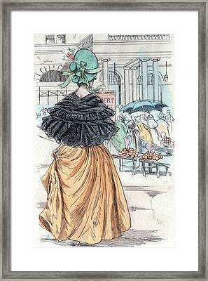 1840, Womens Fashion In Nineteenth-century Paris Framed Print
