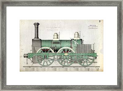 1843 Locomotive Luggage Engine Framed Print