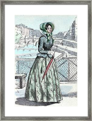 1846, Womens Fashion In Nineteenth-century Paris Framed Print