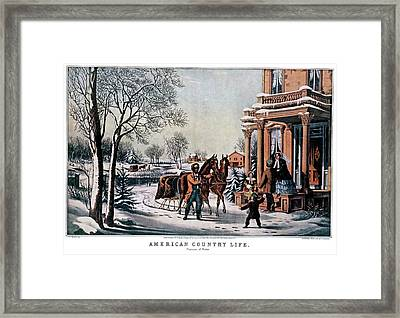 1850s American Country Life - Pleasures Framed Print