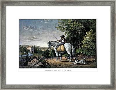 1850s Going To The Mill - Currier & Framed Print