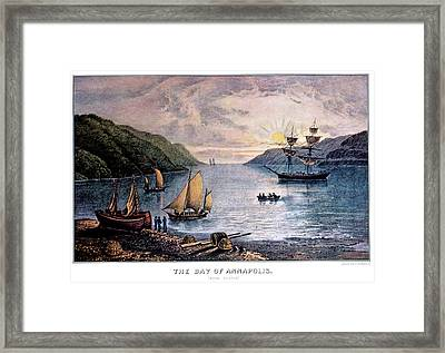 1850s The Bay Of Annapolis - Nova Framed Print