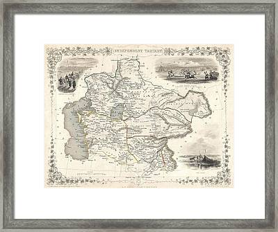 1851 Asia Map Framed Print