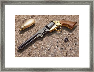 1851 Navy Revolver 36 Caliber Framed Print by Mike McGlothlen