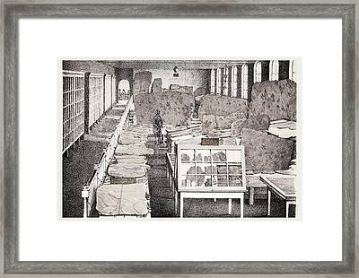 1858 Appleton Cabinet Ichnology Hitchcock Framed Print by Paul D Stewart