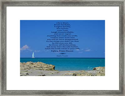 186- Mark Twain Framed Print by Joseph Keane