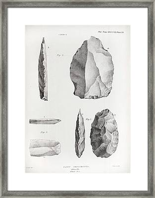 1860 Flint Implements Prestwich Article Framed Print