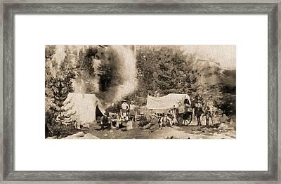 1860 Pikes Peak Prospectors Framed Print