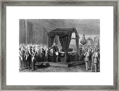1860s April 1865 Funeral Rites Framed Print