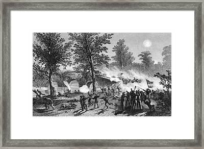 1860s Burnsides Passage Of The Bridge Framed Print