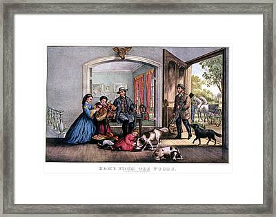 1860s Home From The Woods - Successful Framed Print