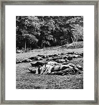 1860s July 1863 Dead Of The Michigan Framed Print