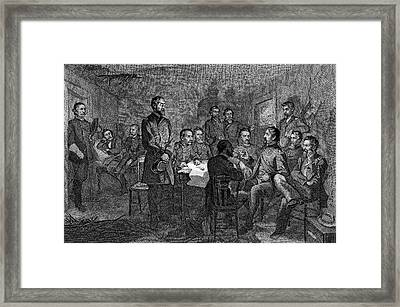 1860s July 1863 General Meade Meeting Framed Print