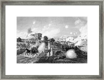 1860s July 1863 View Of Union Lines Framed Print
