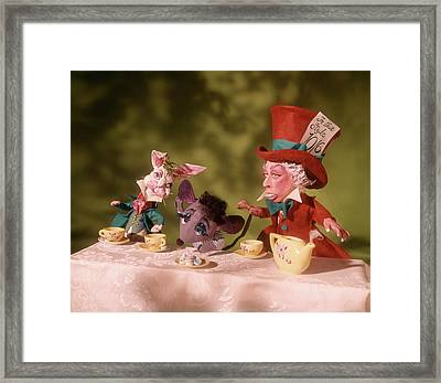 1860s Mad Hatters Tea Party From Alice Framed Print