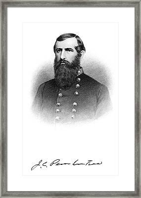 1860s Portrait Confederate General John Framed Print