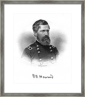 1860s Union General Oliver Howard Civil Framed Print