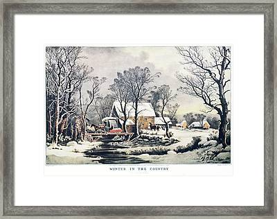 1860s Winter In The Country - The Old Framed Print