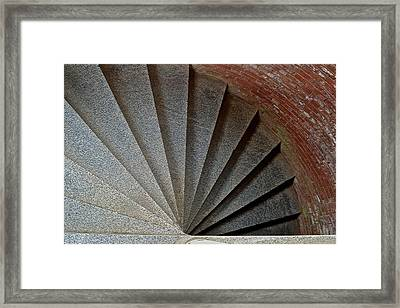 1861 Fort Point Tower Stairs San Francisco Bay Framed Print by Bill Owen