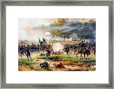 1862 Battle Of Antietam Framed Print by MotionAge Designs