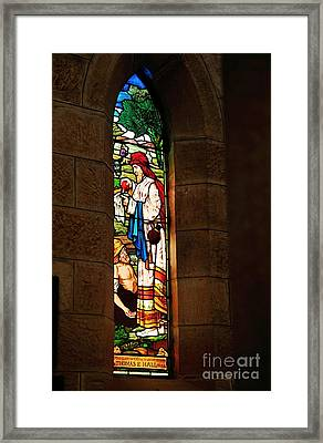 1865 - St. Jude's Church  - Stained Glass Window Framed Print by Kaye Menner