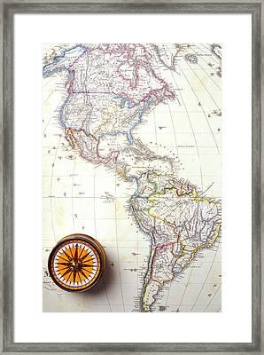 1868 Map Of America Framed Print