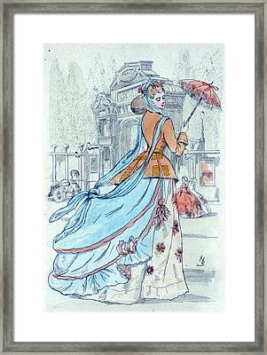 1868, Womens Fashion In Nineteenth-century Paris Framed Print