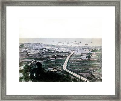 1870 Kobe Japan Panorama Framed Print