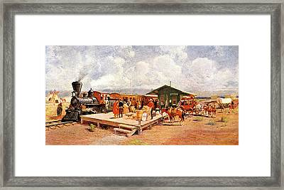1870s Early Railroad Commerce Travel Framed Print