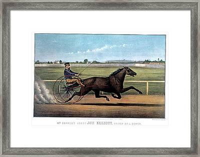 1870s Mr. Bonners Horse Joe Elliot Framed Print