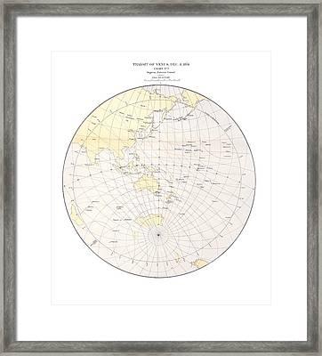 1874 Transit Of Venus Chart, Ingress 1 Framed Print