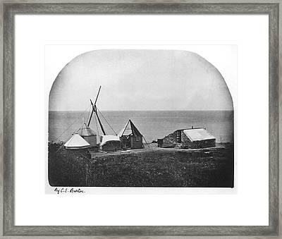 1874 Transit Of Venus, Rodriguez Island Framed Print
