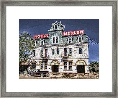1875 Metlen Railroad Hotel - Dillon Montana Framed Print by Daniel Hagerman