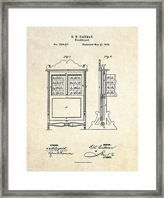 1878 Blackboard Patent Art Framed Print