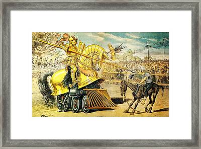 1880s A Tournament Of Today Puck Graetz Framed Print by MotionAge Designs