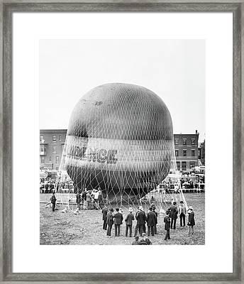 1880s Balloon Independence Preparing Framed Print
